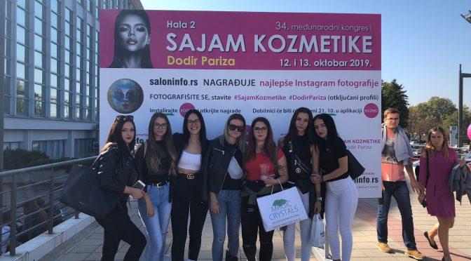 Ogled 34. Mednarodnega sejma kozmetike, nege las, estetike in zdravja z naslovom Dodir Pariza v Beogradu.